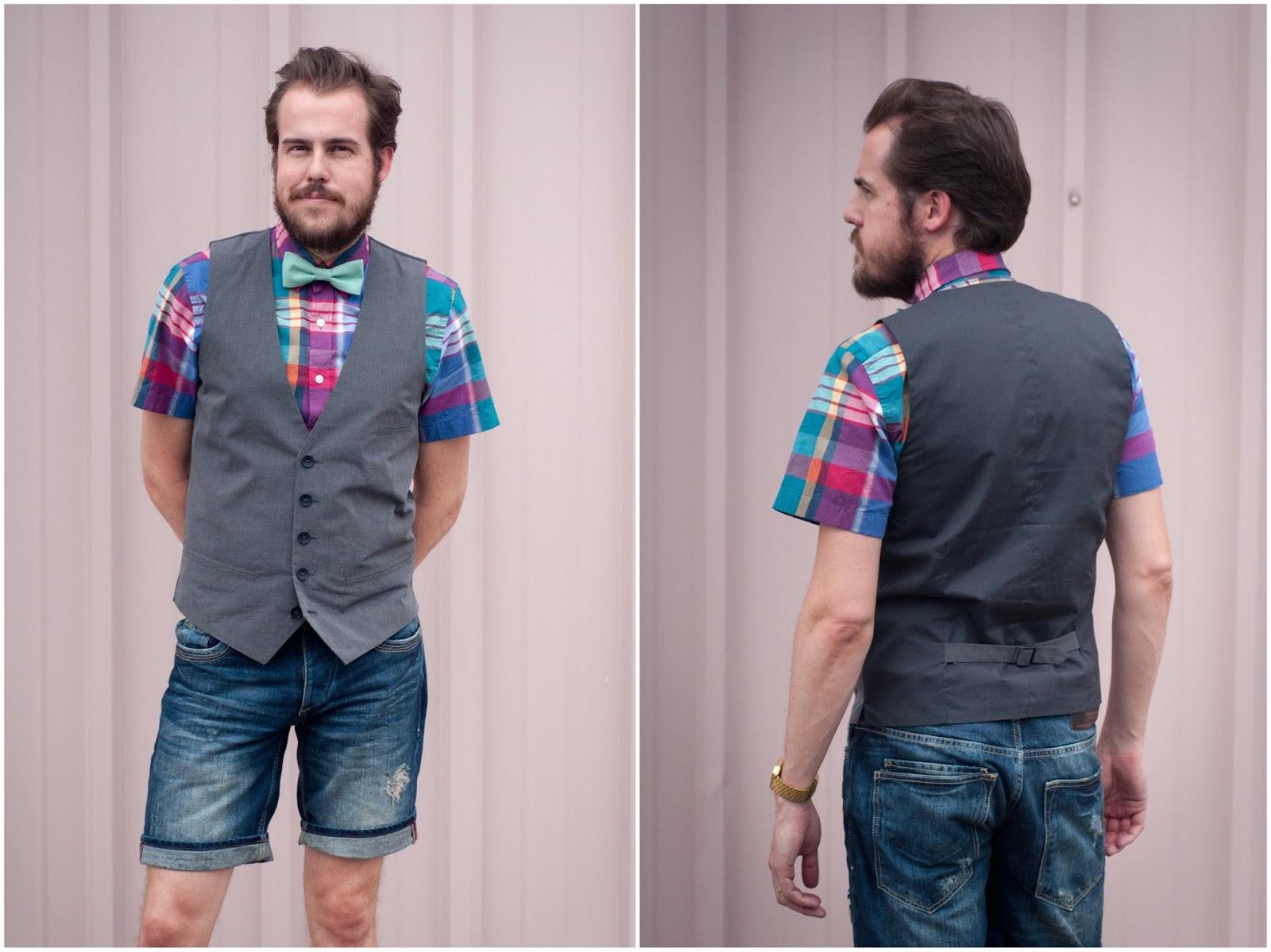 mens fashion, mens ootd, ootd, mens style blog, bow tie, jcrew, zara bermuda shorts,