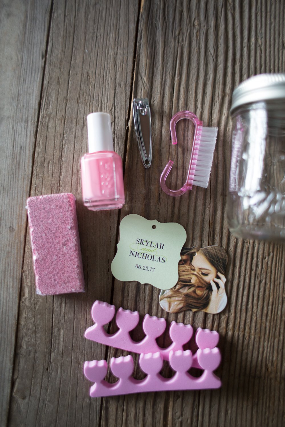 Thank You Gifts For Wedding Party: Bridal Shower Party Favor- Pedicures In A Jar