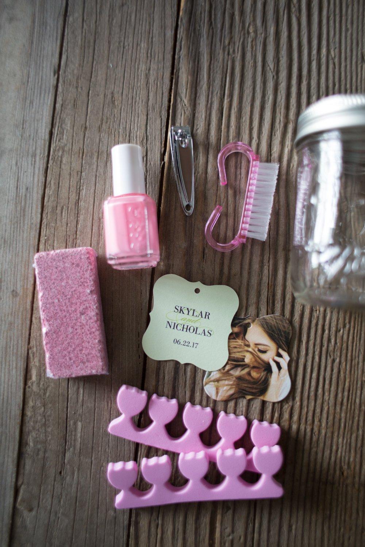 Bridal Shower Party Favor Pedicures in a Jar Kelsey Bang