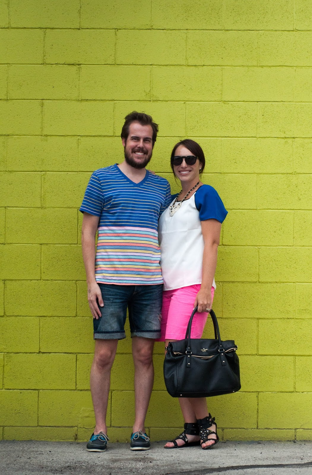 couples style, couples fashion, sam edelman, gladiator, sperry topsider, kate spade, ootd