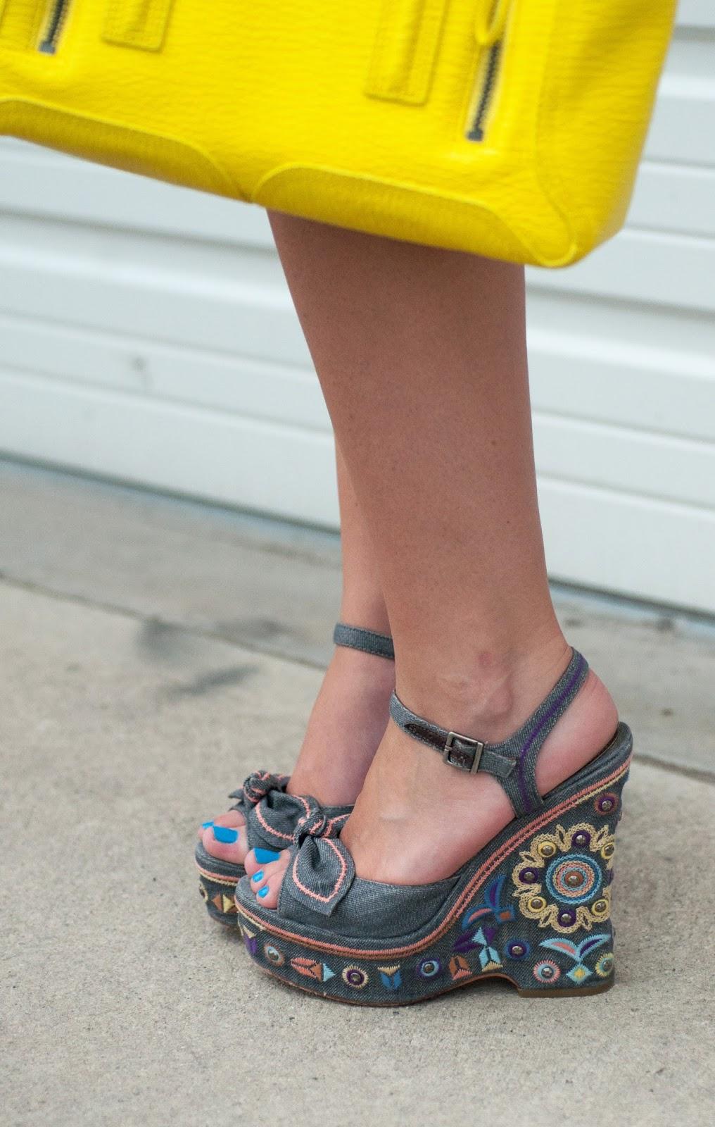 sam edelman wedges, bow shoes, ootd, what I wore, fashion blogger, style blog, phillip lim pashli satchel