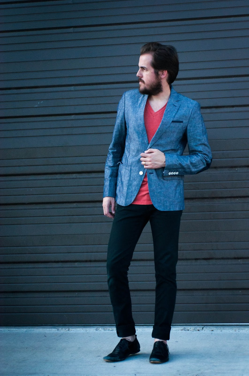 mens style, mens fashion blog, ootd, zara blazer, levis 511, urban outfitters mens wear