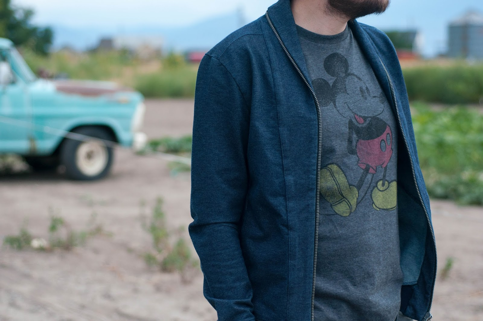 mens style, mens fashion, mens ootd, wiw zara mens jacket, mickey mouse tee, target style