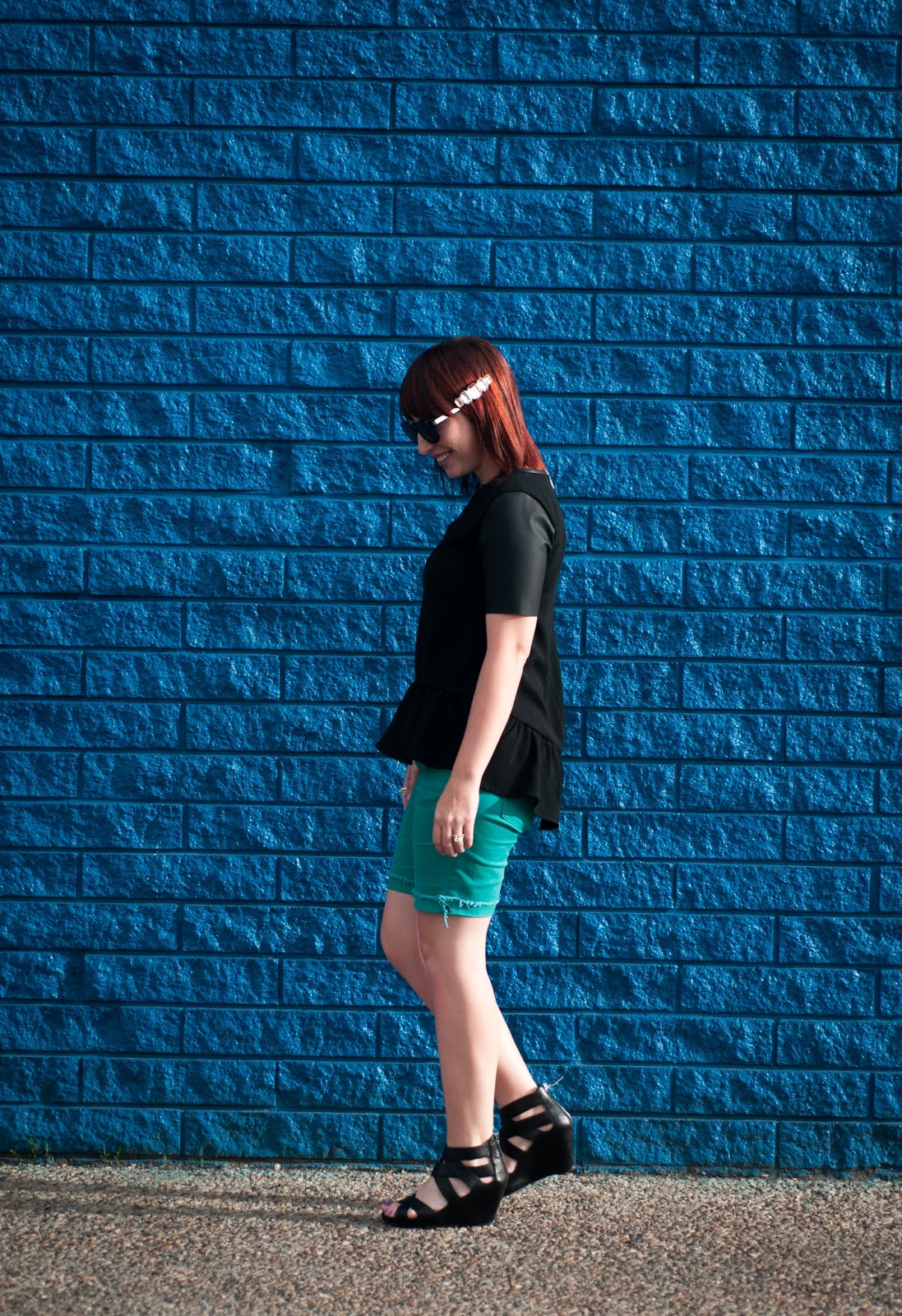 style blog, fashion blog, mens style, womens style, couples style blog, jcrew short sleeve shirt, jcrew, jcrew menswear, jcrew mens shorts, sperry topsider, boat shoes, crocodile belt, nixon rotolog, nixon, nixon watch, wood watch, plaid shirt, mens plaid button up, peplum, leather peplum, peplum top, levis, levis cut off, cut off shorts, wedges, dolce vita, dolce vita shoes, dvf, sunday somewhere, sunday somewhere sunglasses, forever 21, forever 21 hair clip, jewel barrett, barrett,