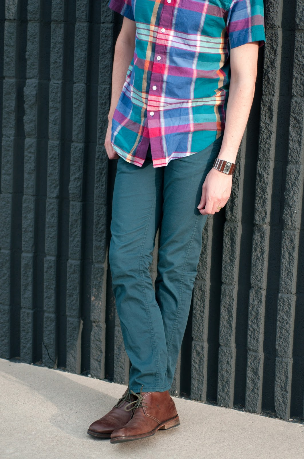 fashion blog, style blog, style blogger, fashion blogger, mens style, mens fashion blog, mens style blog, jcrew, jcrew short sleeves shirt, jcrew plaid shirt, jcrew mens style, ootd, jcrew ootd, anthropologie ootd, levis 510, levis 510 modern essential 5 pocket pant, gordon rush, gordon rush boot, gordon rush mathias, mathias, nixon wood rotolog, nixon, nixon watch, wood watch, antonio melani, cheetah print, ombre, navy, pink, miss albright, miss albright geo cut patent sandals, anthropologie shoes, white sandals, clutch, kate spade, kate spade new york, kate spade new york clutch, bow clutch, topshop, topshop hair clilp, mac, mac lipstick, mac lipstick, mac syrup, ootd,