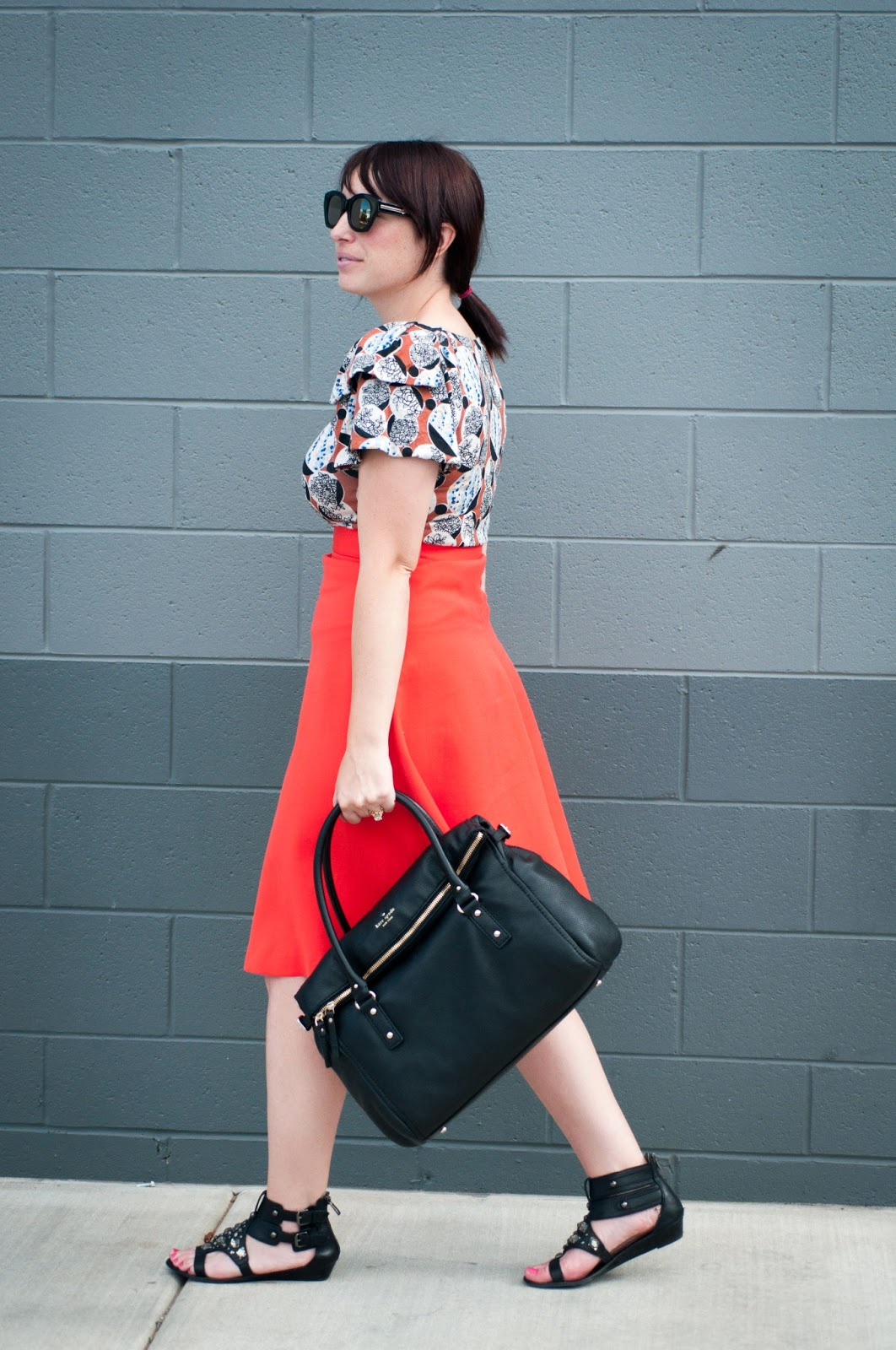 style blog, fashion blog, kate spade new york, sam edleman, karen walker, h and m, anthropologie, ootd