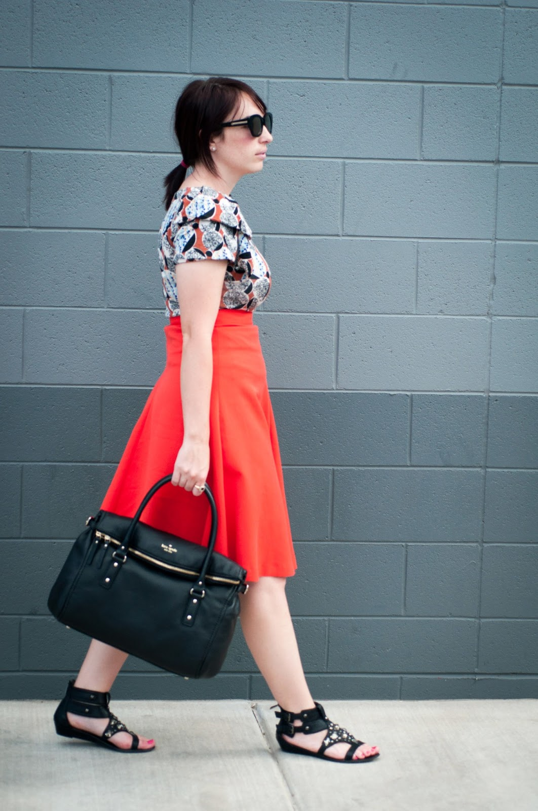 fashion blog, style blog, kate spade new york, h and m, sam edleman, anthropologie, ootd, karen walker