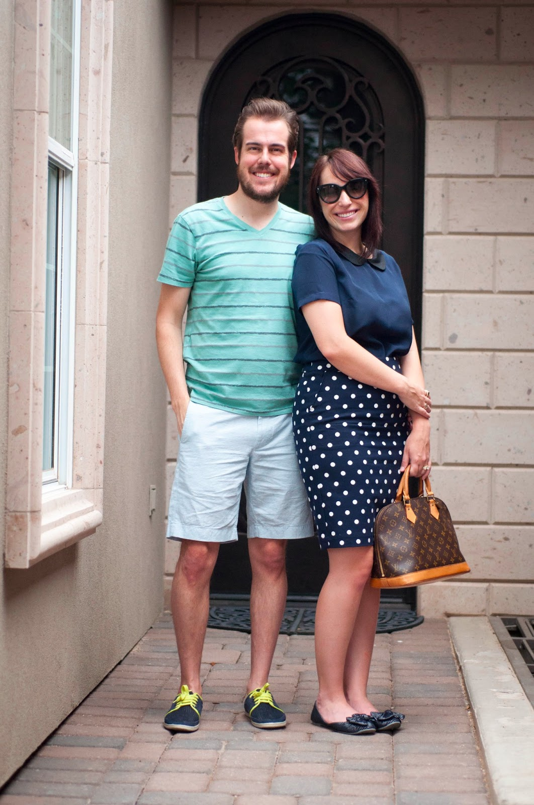 "couples style, fashion blog, style blog, ootd, target style, jcrew 9"" stanton short, prada cats eye sunglasses"