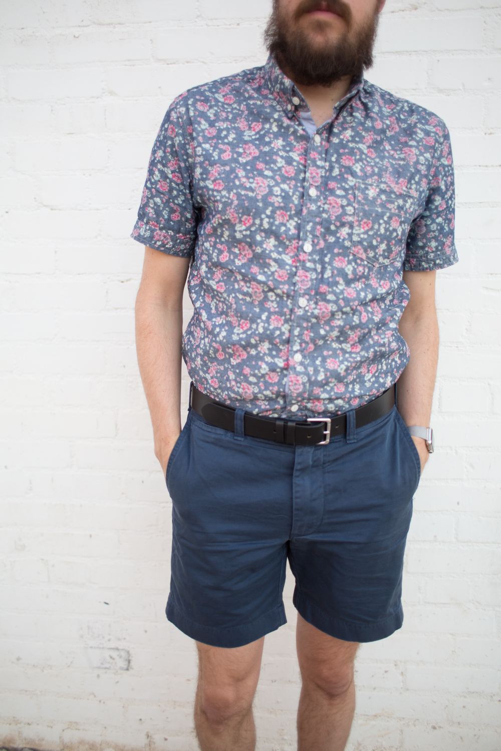 7 Diamonds Mens Floral Shirt