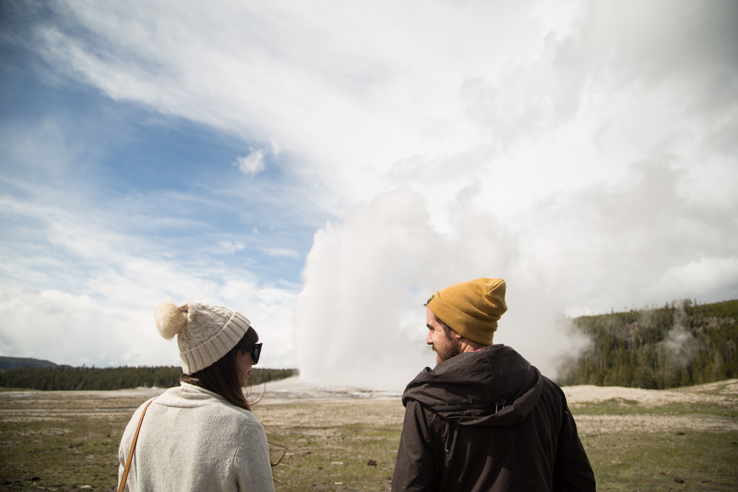 Old Faithful at Yellowstone Centennial Celebration