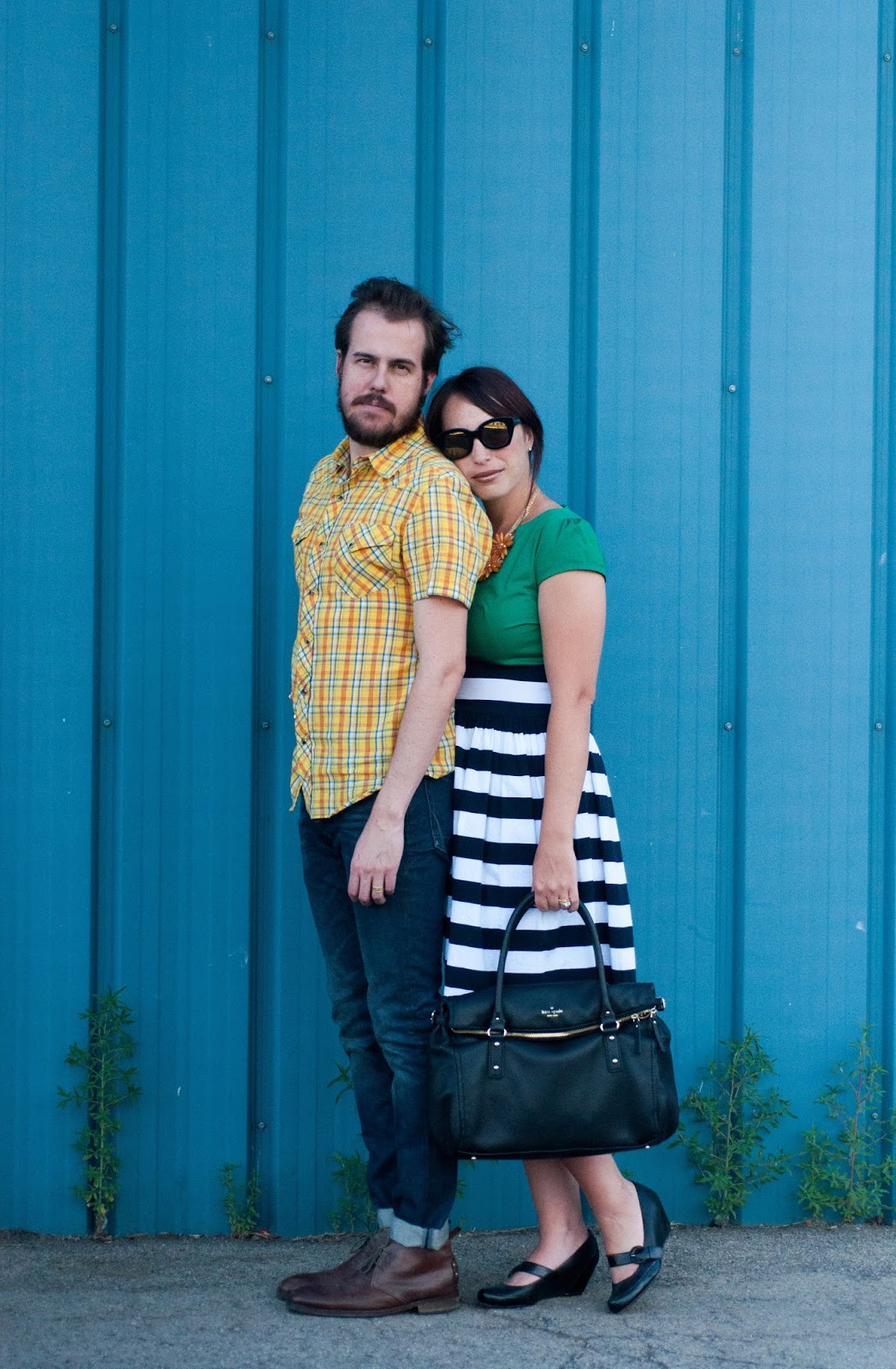 couples fashion, couples style, ootd, kate spade cobble hill bag, report shoes, shabby apple dress
