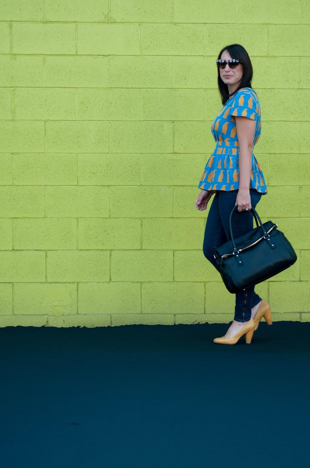 ootd, style blog, fashion blog, anthropologie ootd, kate spade cobble hill satchel, prada flower sunglasses