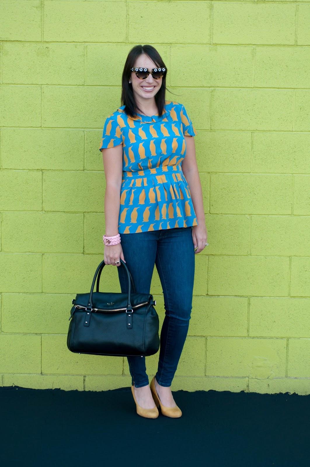 ootd, fashion blog, style blog, charlotte taylor chiffon blouse, anthropologie ootd, prada flower sunglasses, wiw