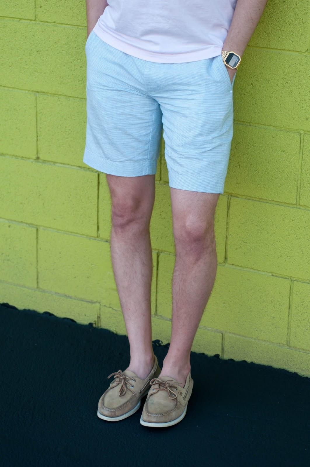 jcrew stanton short, ootd, mens fashion blog, mens style blog, sperry topsider, nixon watch