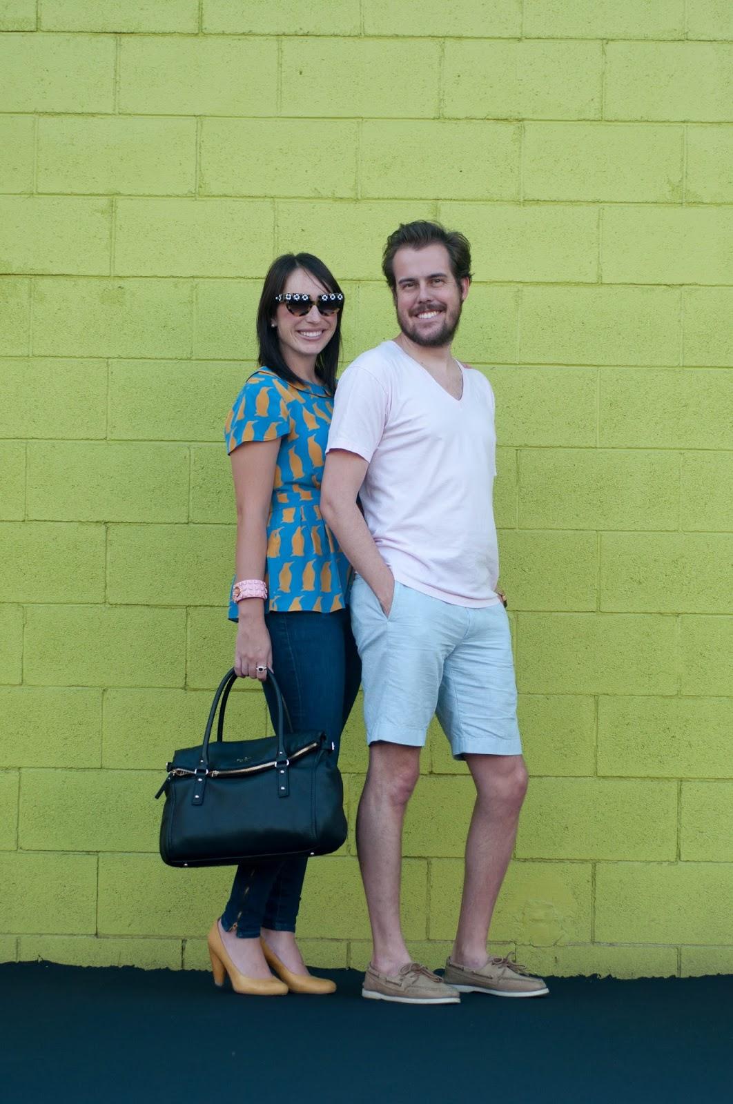 couples fashion, couples style, ootd, what i wore, utah fashion blog, prada flower sunglasses, vneck shirt