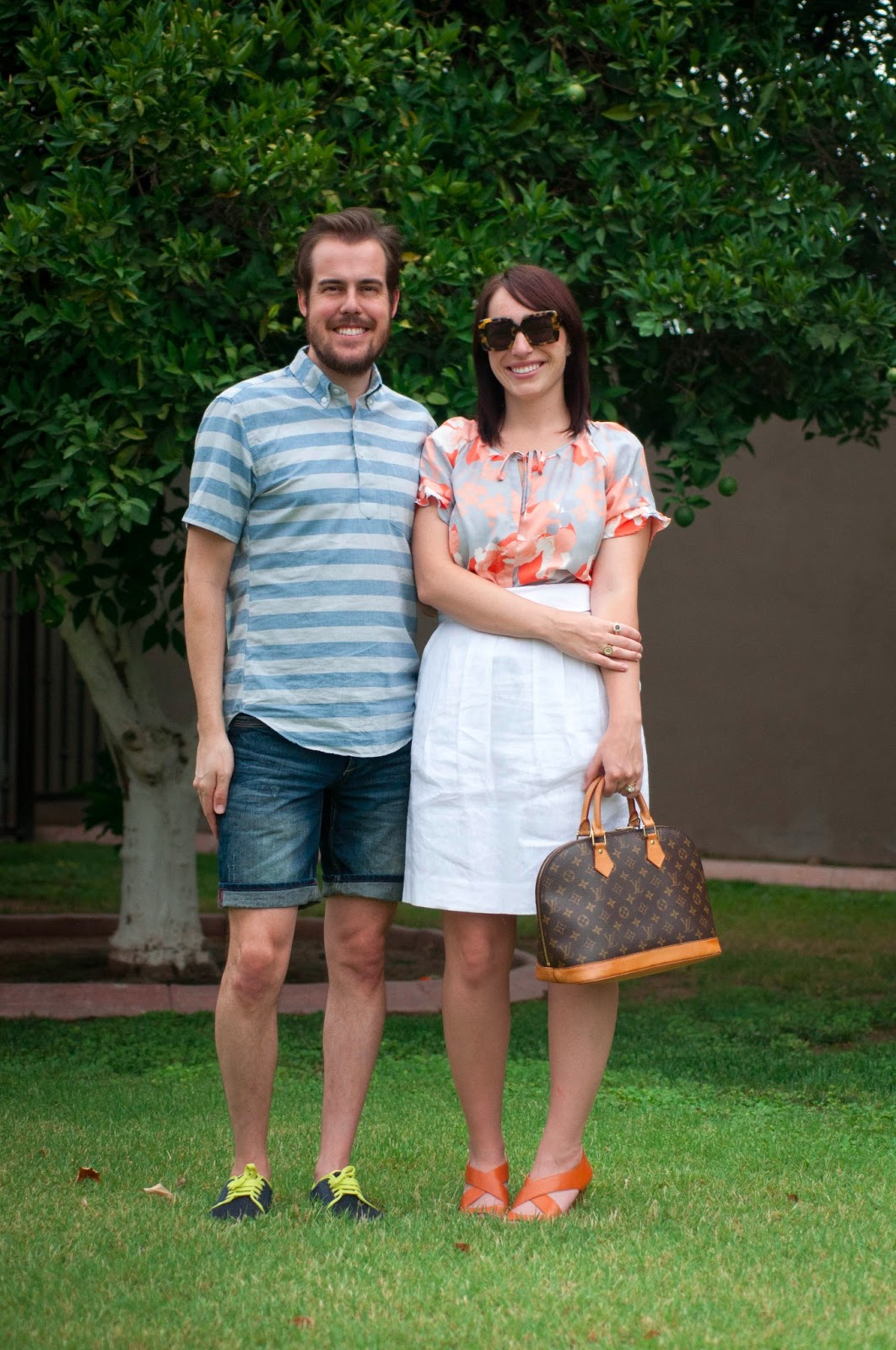couples fashion, style blog, mens fashion, zara ootd, banana republic, silk blouse, ootd, karen walker sunglasses