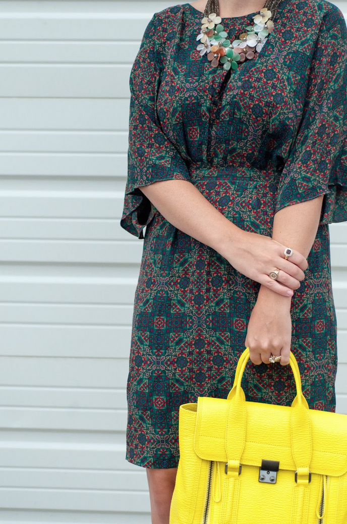 ootd, anthropologie ootd, floral necklace, style blog, fashion blogger, phillip lim pashli satchel