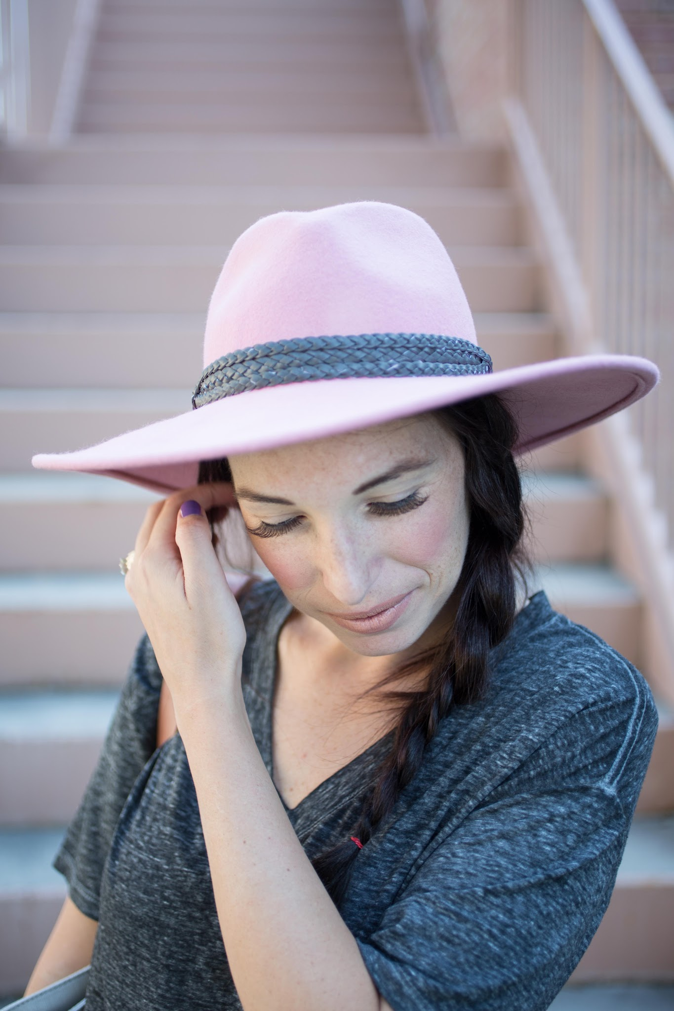 Anthropologie Peach Plantage Floppy Hat