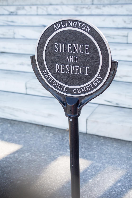 Arlington National Cemetery Silence and Respect