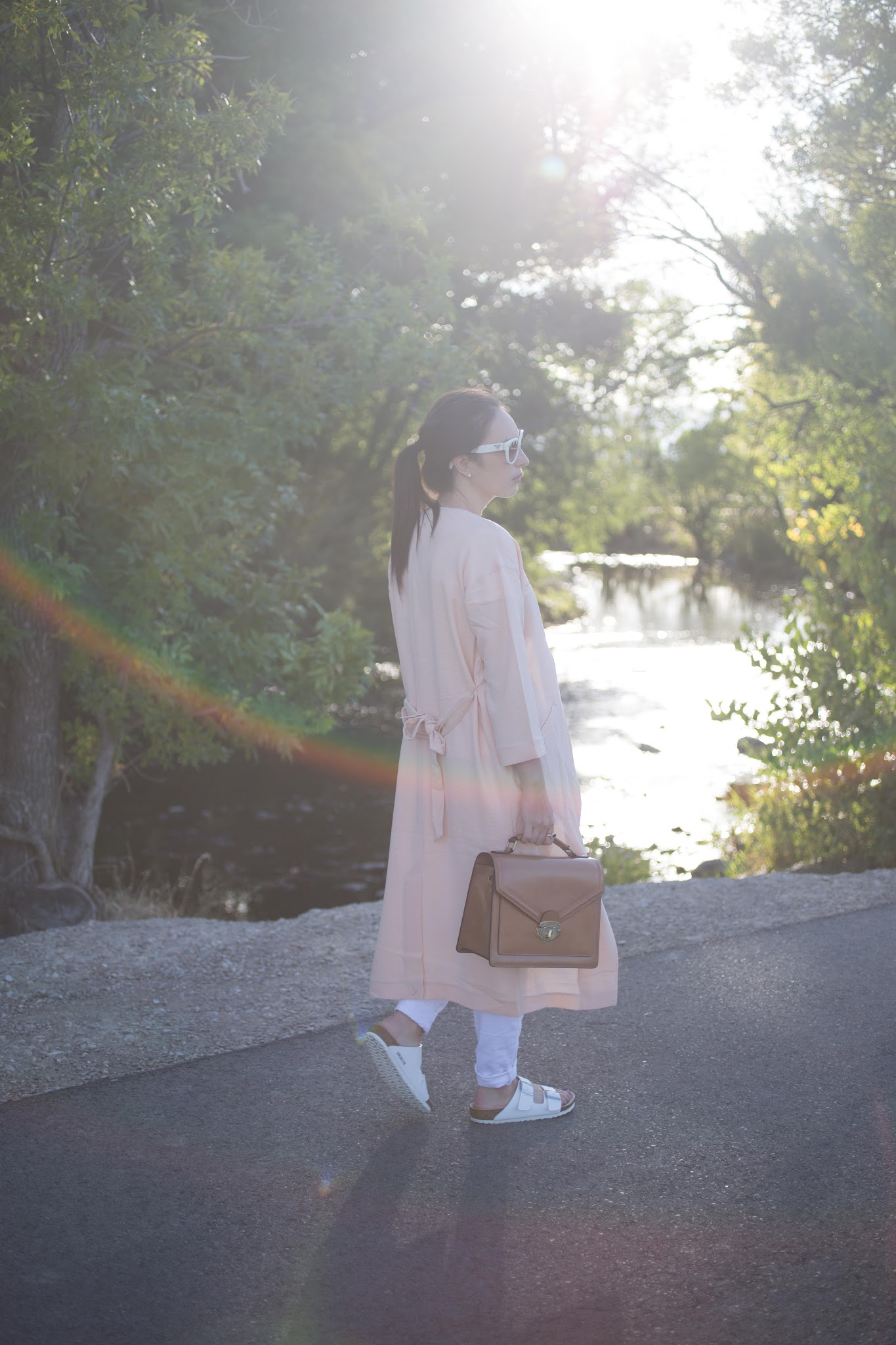 Pink Asos Duster Coat