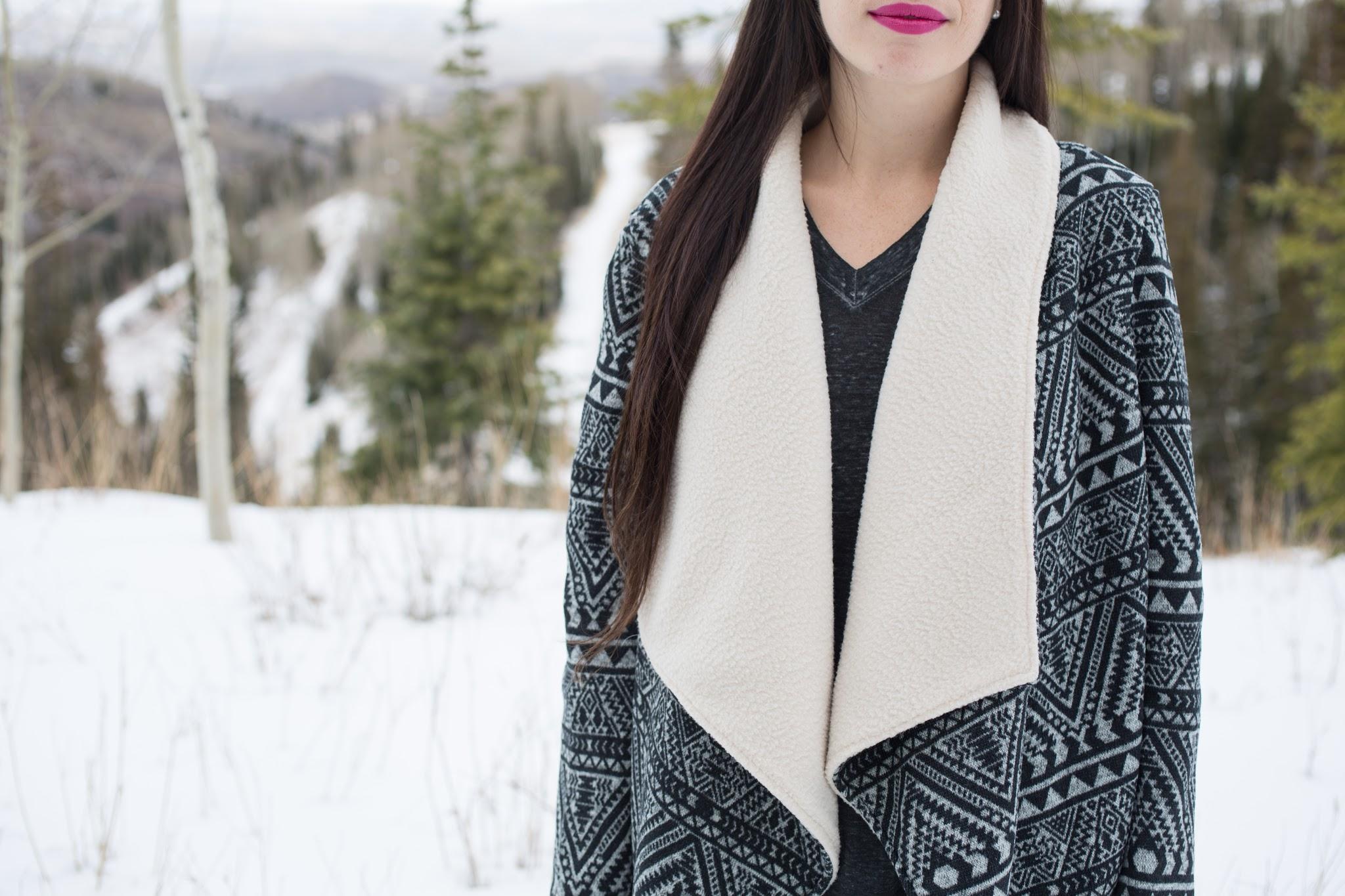 Aztec Cardigan Sweater