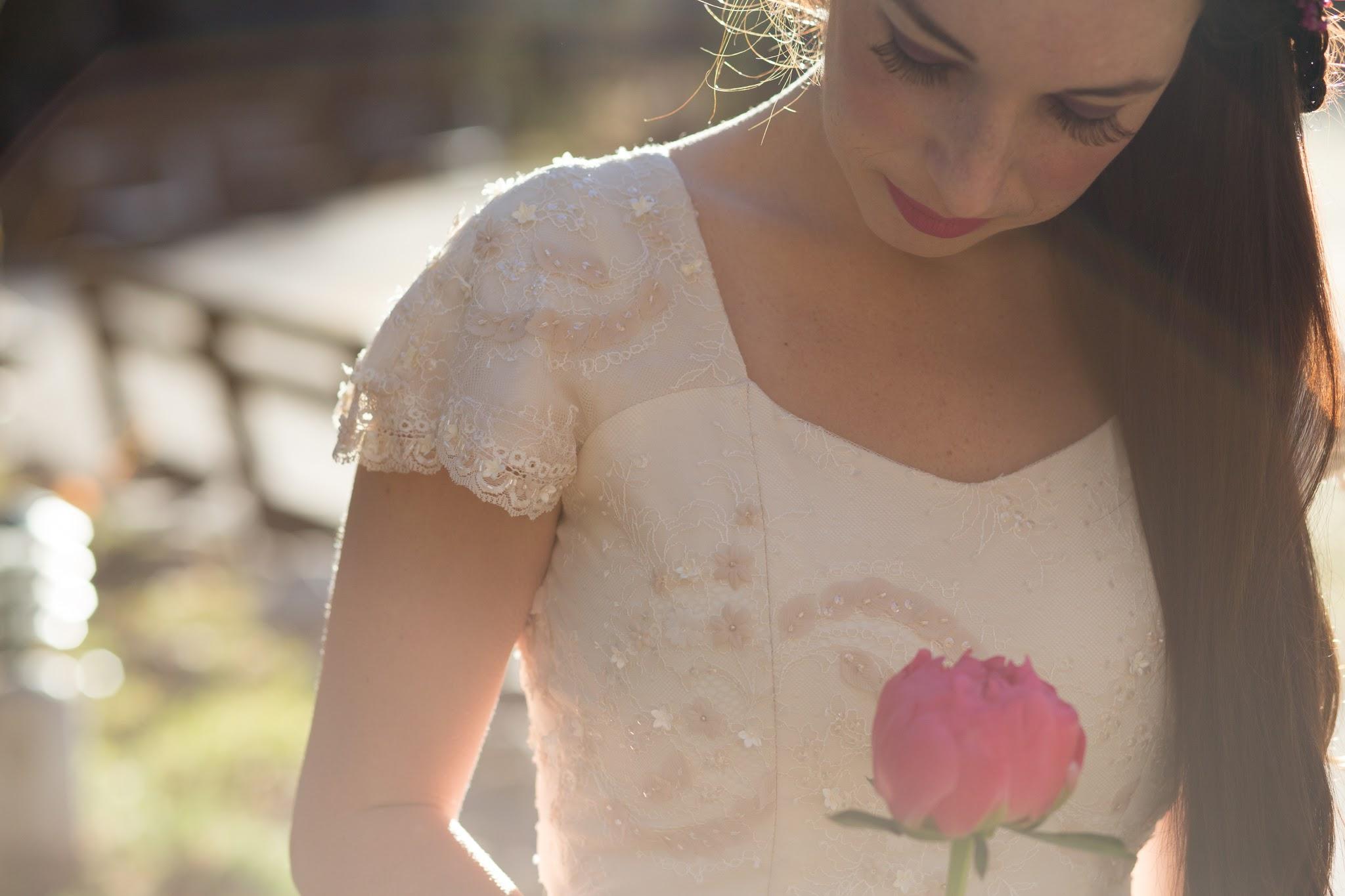 Beaded Wedding Dress Detail Shot
