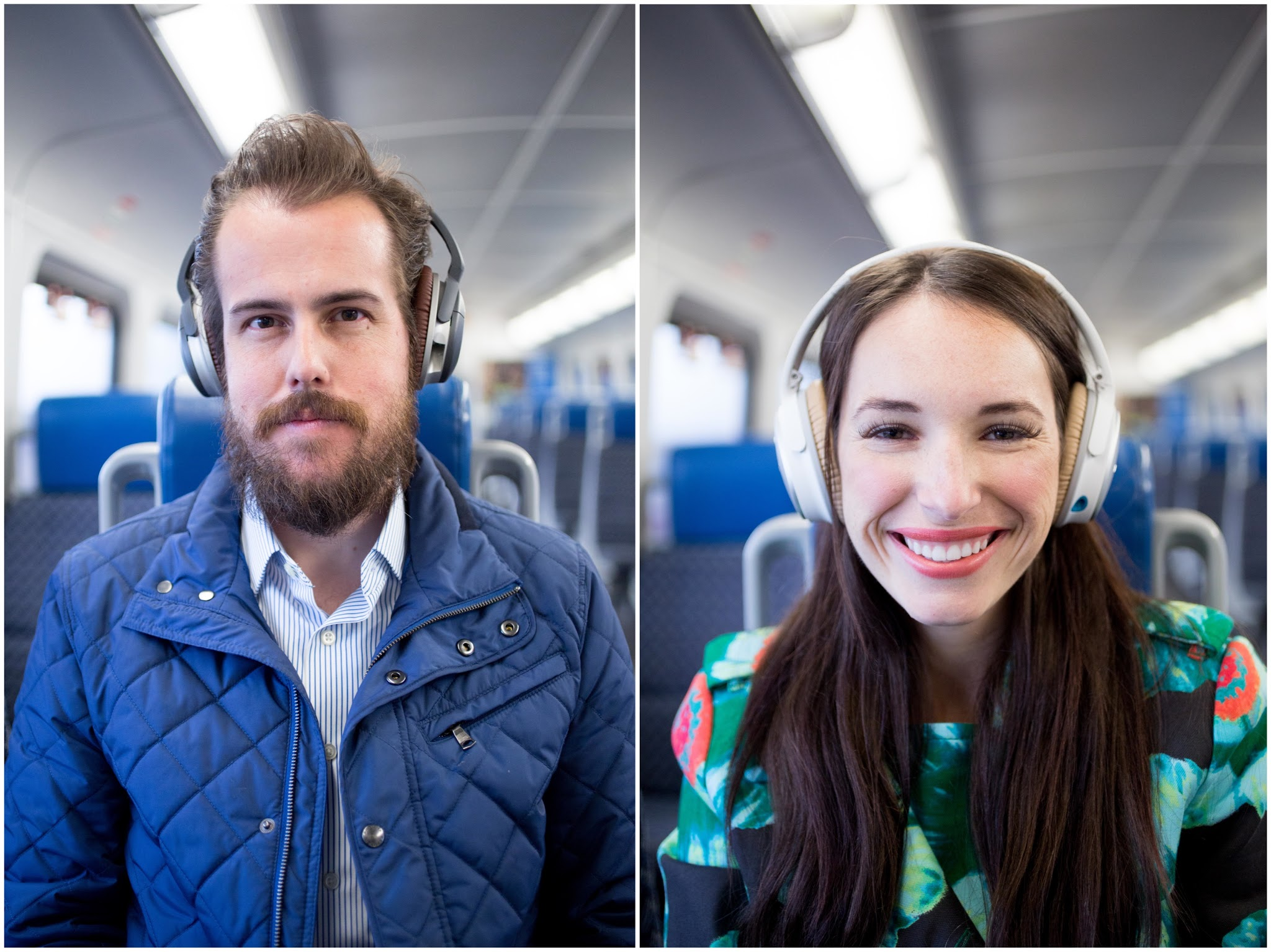 His and Hers Bose Quiet Comfort Headphones