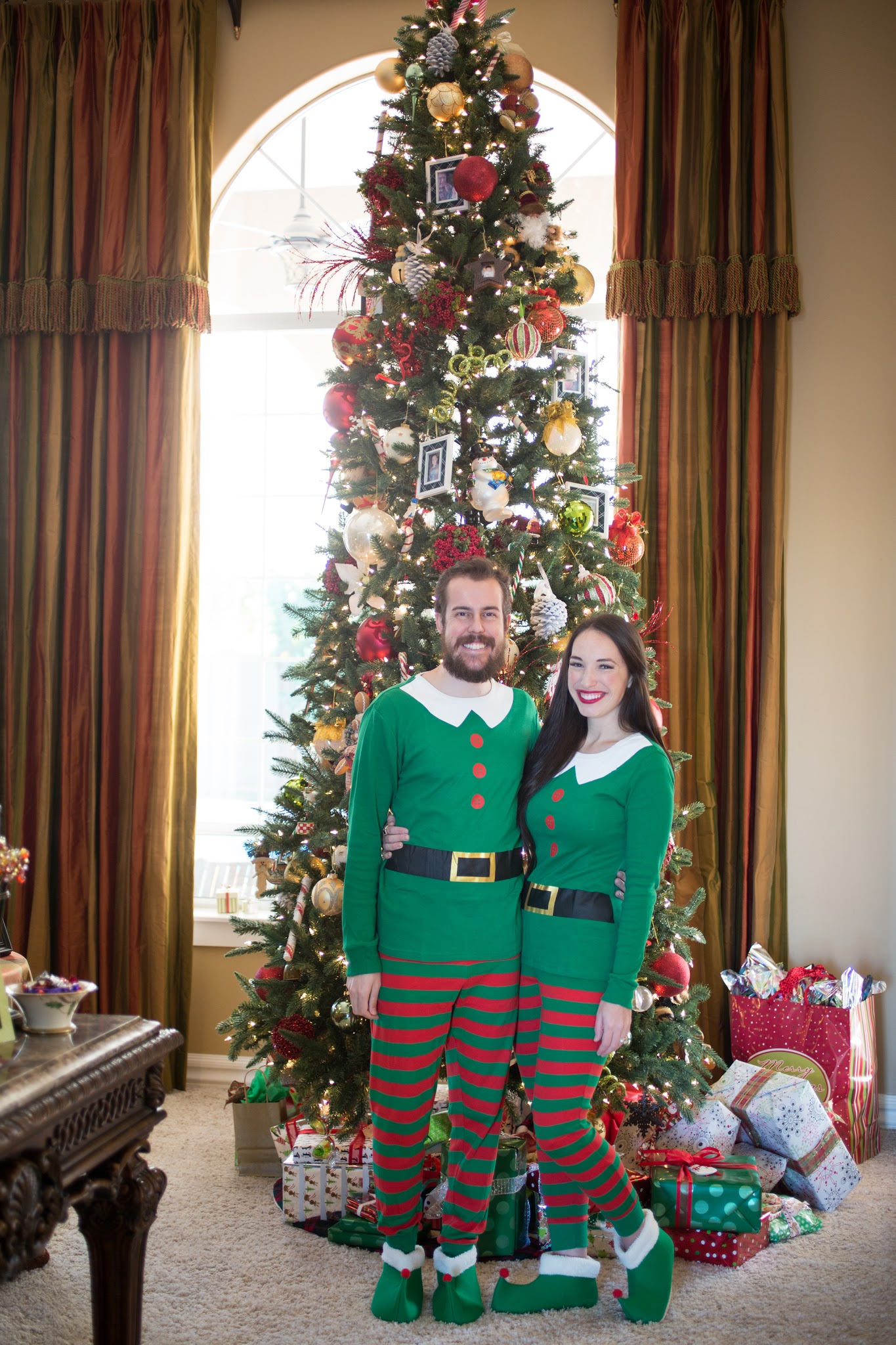 His and Her Elf PJs