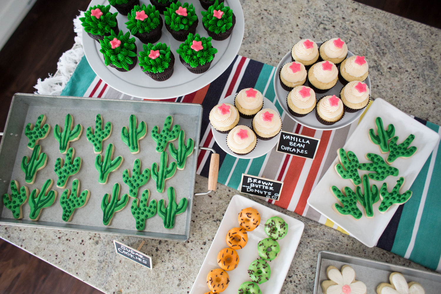 Cute Cactus Themed Party Treats