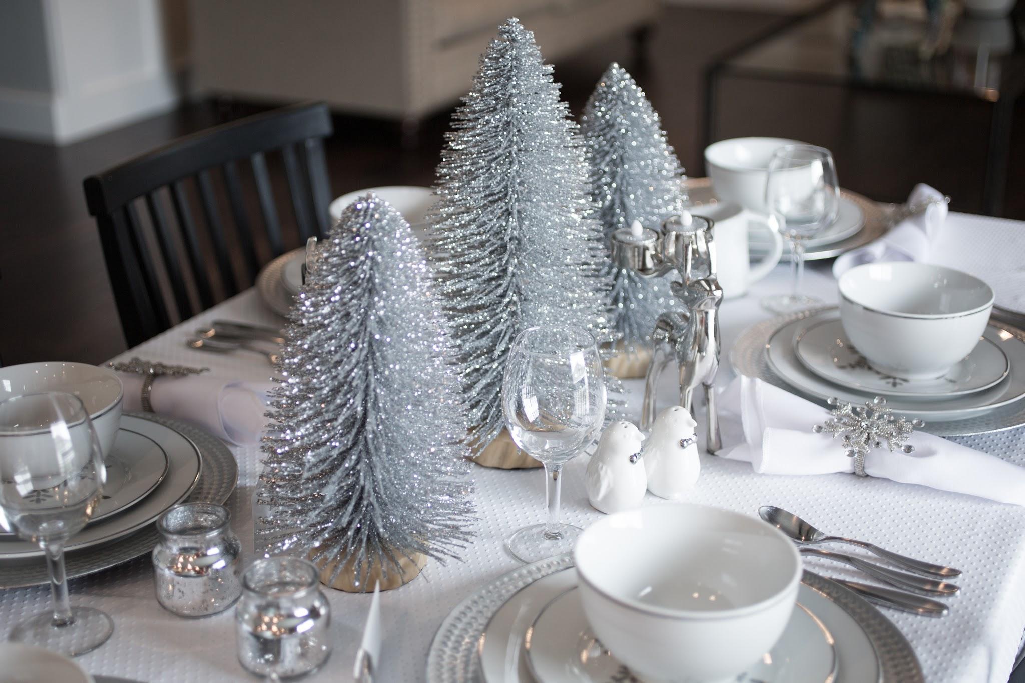 Silver Snowflake Christmas Table