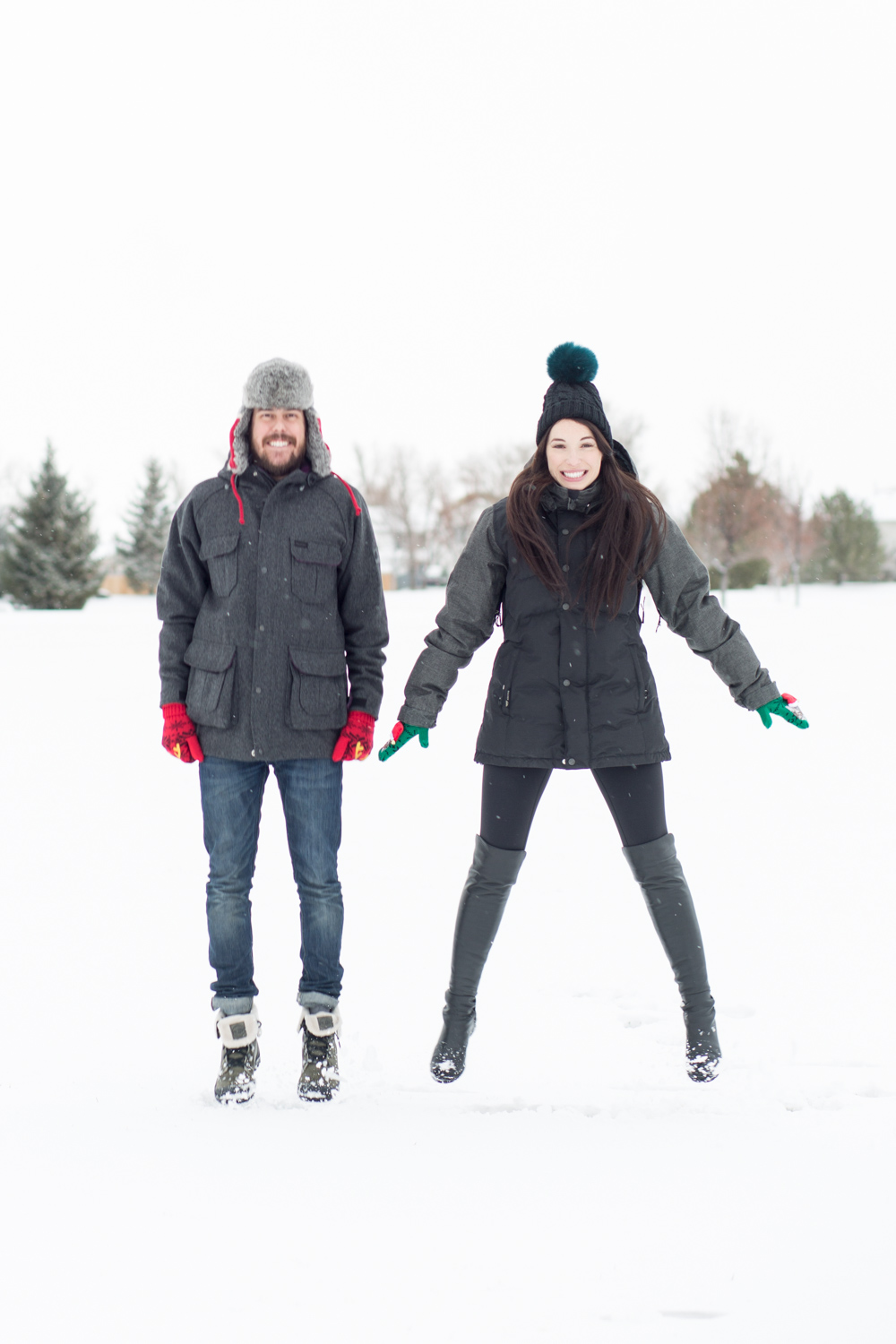 Couples Snow Day Off