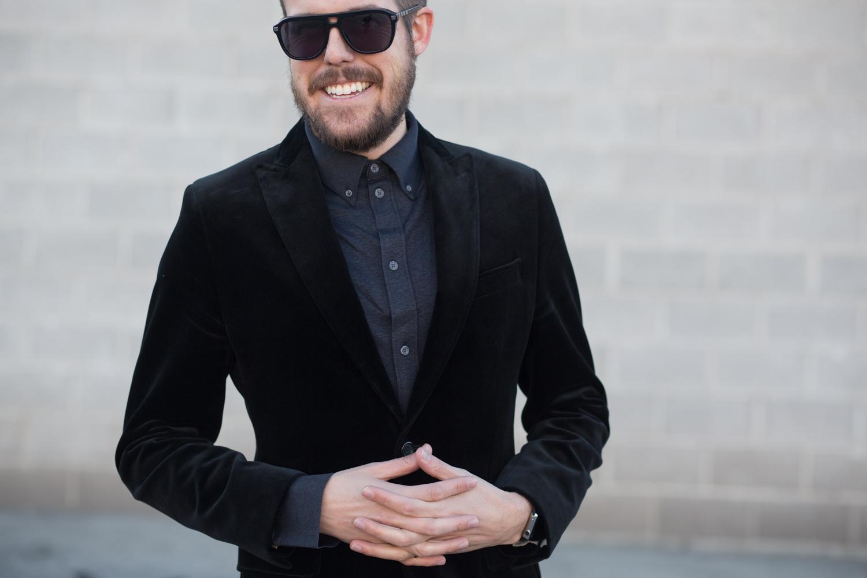 Menswear Fashion Blog- Black Velvet Blazer