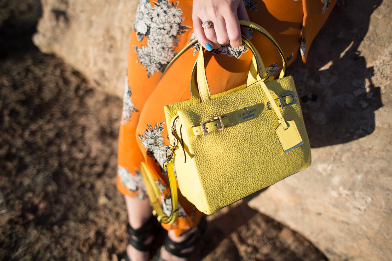 Kate Spade Mini Yellow Handbag