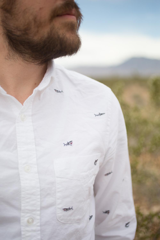 Jcrew Linen Shark Shirt Mens