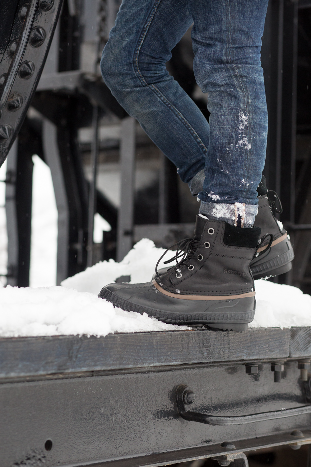 Sorel Duck Boots Menswear Winter Fashion Blog