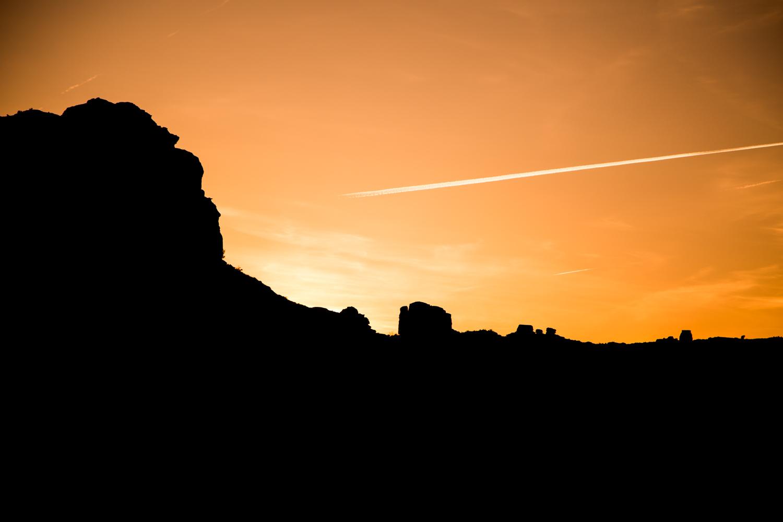 Orange Sunset in Moab Utah