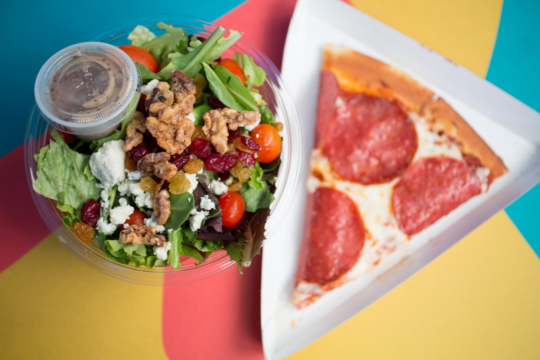 Disneyland Red Rocketts Pizza Port Pizza and Salad
