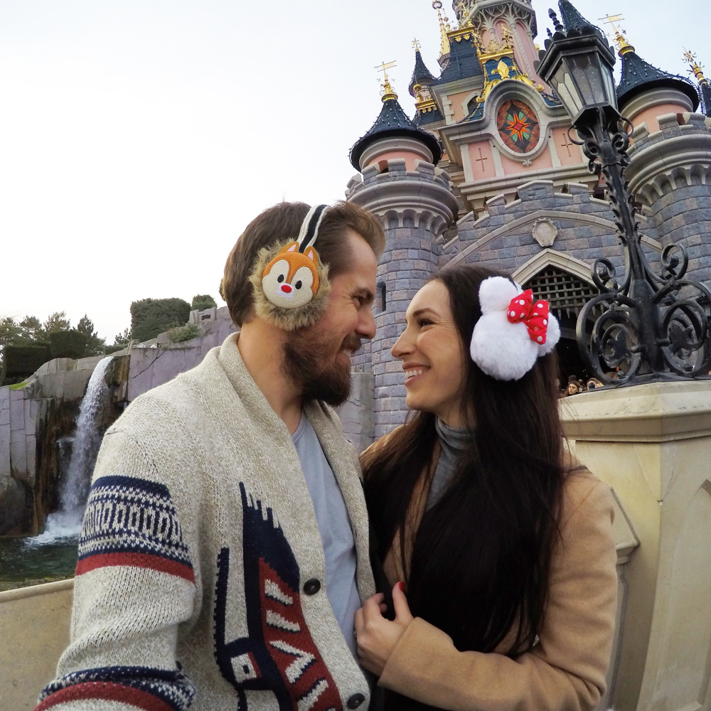 Disneyland Paris Mickey and Minnie Mouse Ear Muffs