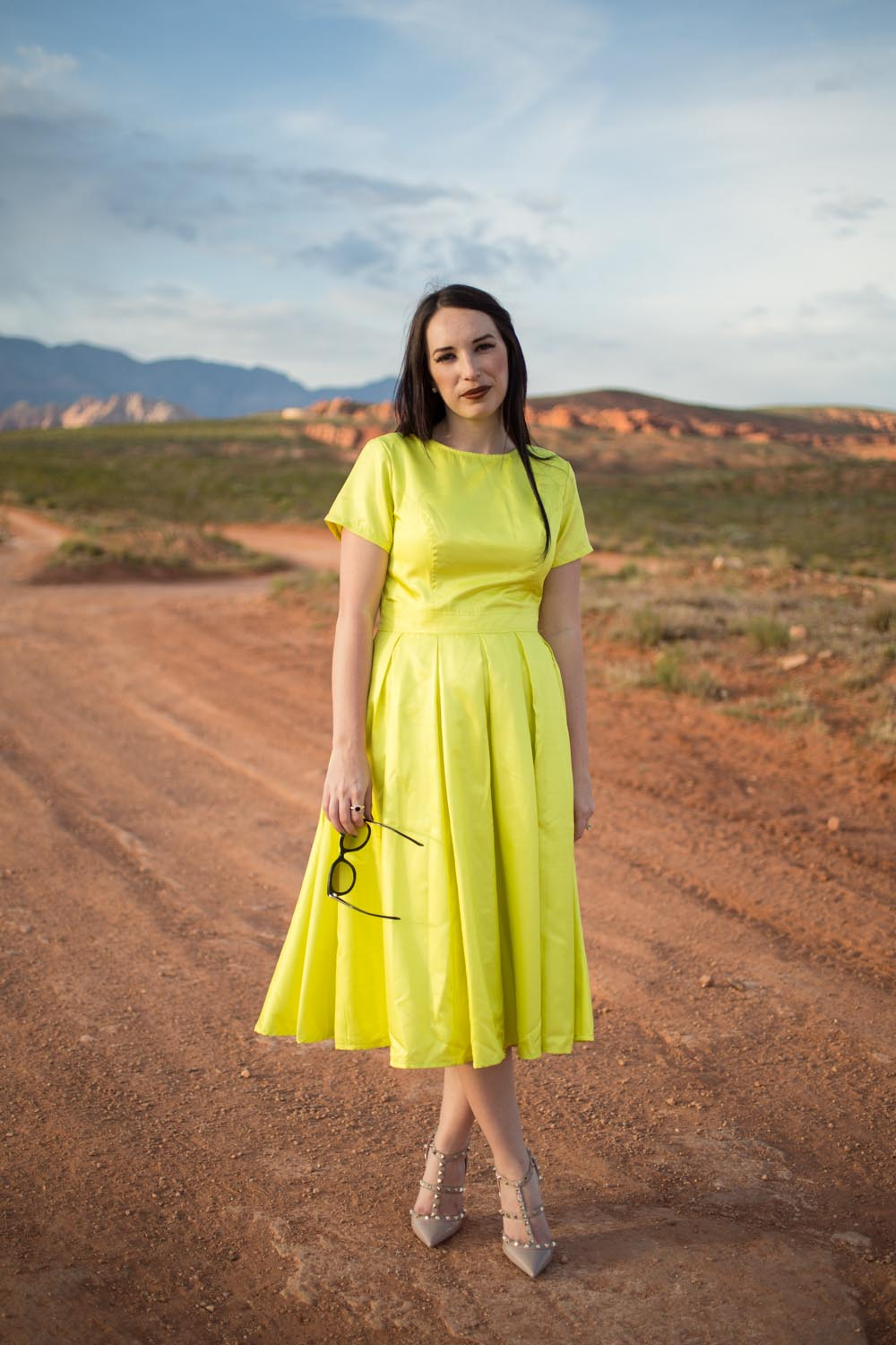 eShakti Neon Dress