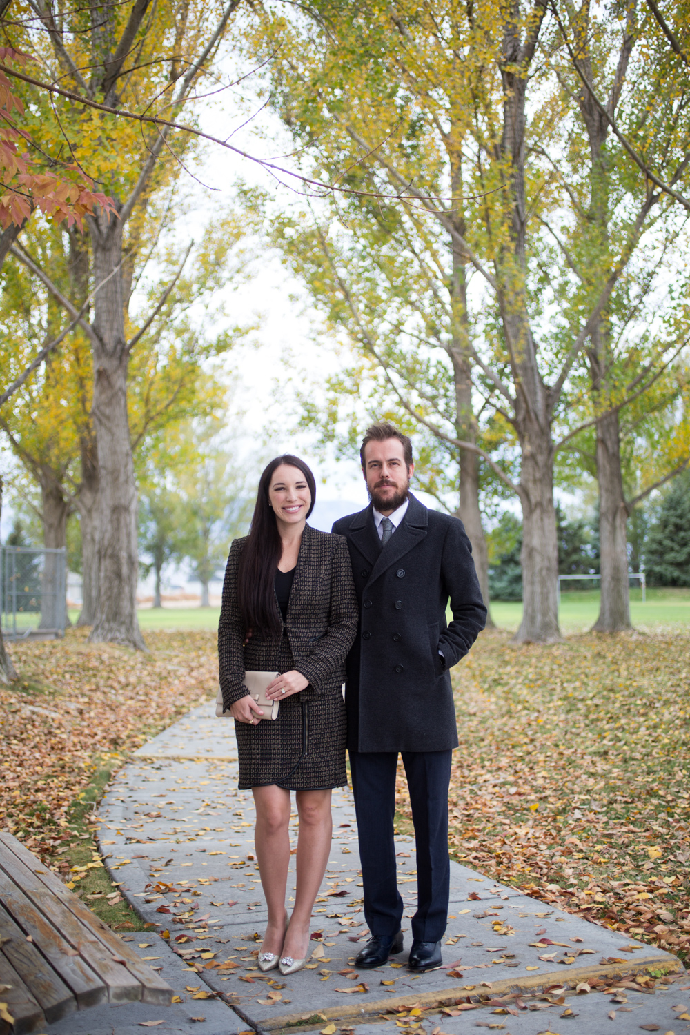 HIs and Her Fall Sunday Style