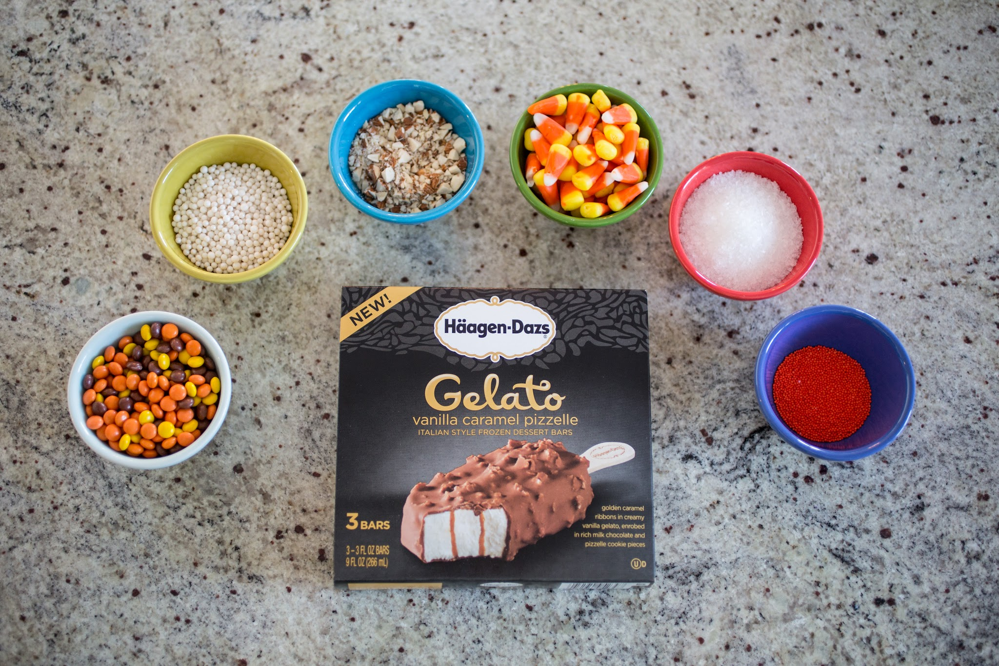 Haagen Daz Gelato Bars Ice Cream Decorating Station