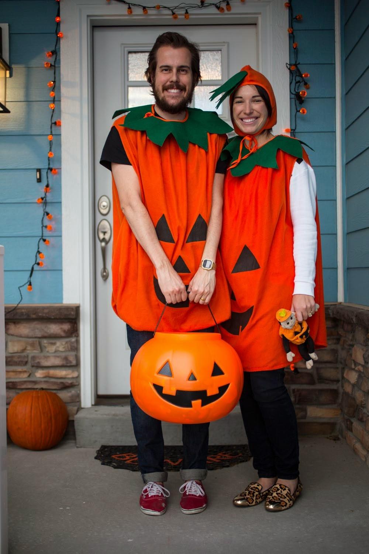 couple pumpkin halloween costumes