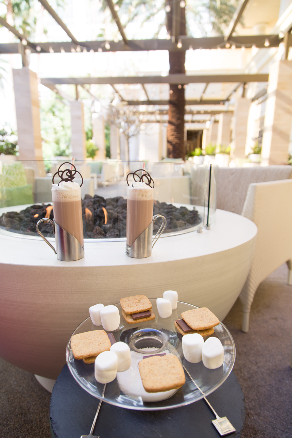 Four Seasons Las Vegas Hotel Press Patio Smores and Hot Chocolate Review