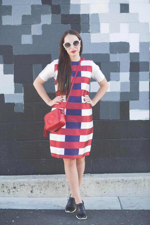 Kingdom and State Fall 2015 Stripe Dress