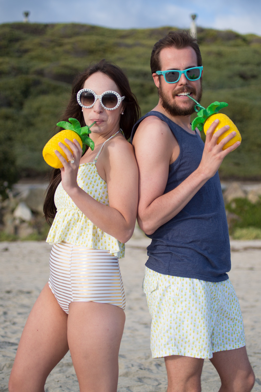 his and her pineapple swim suit from Kortni Jeane