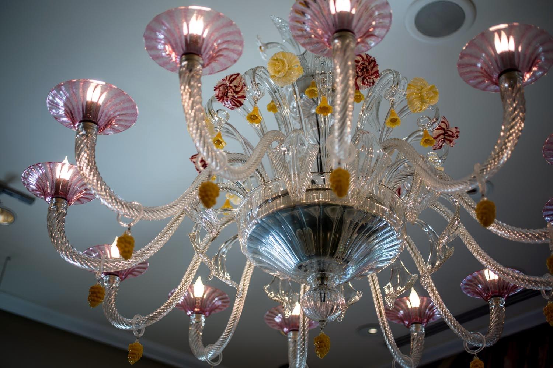unique chandelier at La Bonne Vie