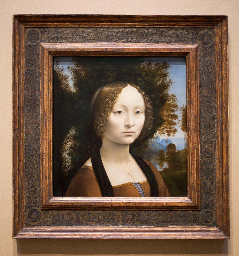 Leonardo da Vinci Florentine, 1452 - 1519 Ginevra de' Benci