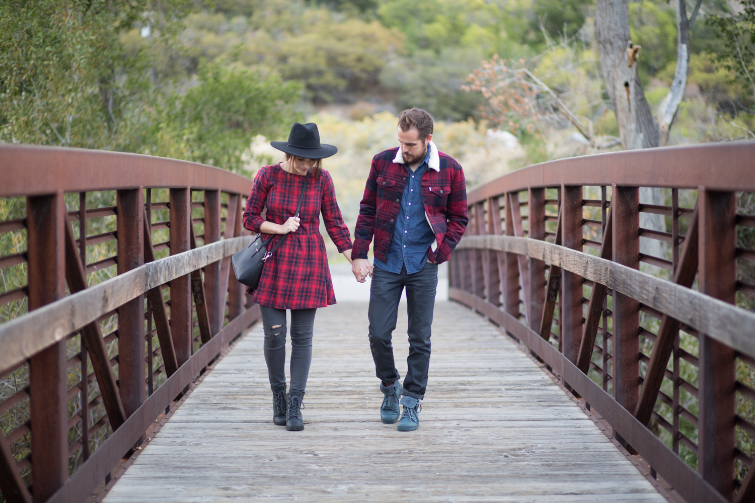 Couples Style Blog in Levis Plaid