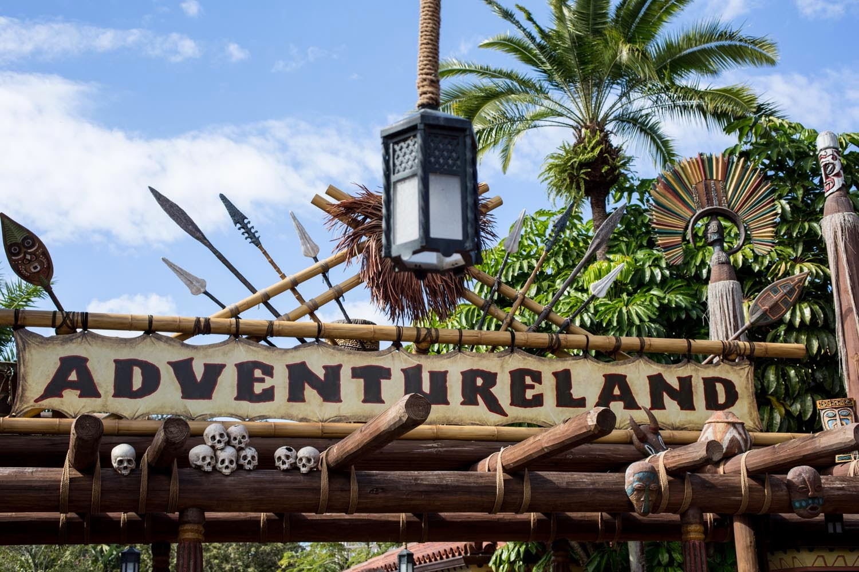 Adventureland entrance at Disney World