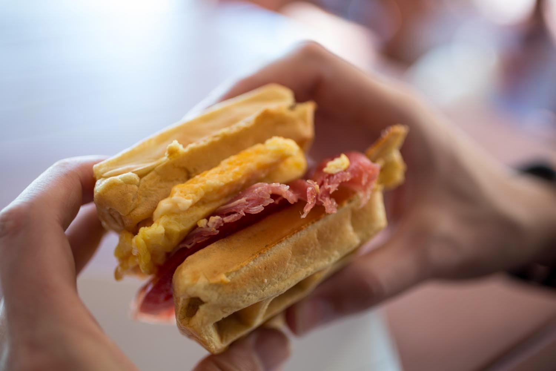 Sleepy Hollow Breakfast Waffle Sandwhich